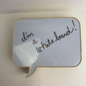 Light Up Speech Bubble White Board Faux Wood Sides